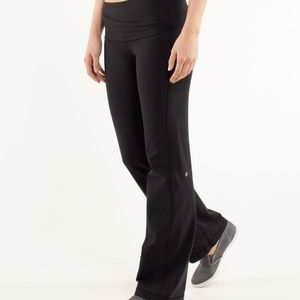 Black Lululemon Astro pants, size 6